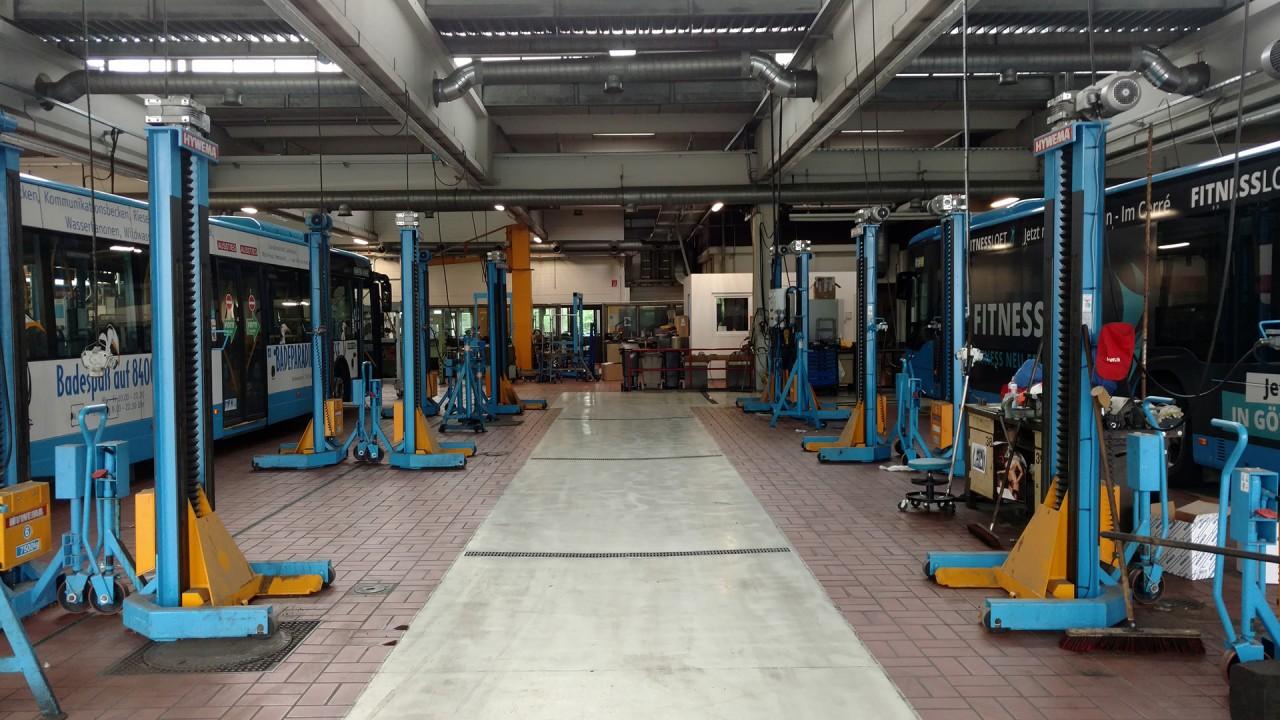Jusos Göttingen besuchen Göttinger Verkehrsbetriebe
