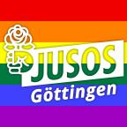Jusos Göttingen LGBT-Regenbogenflagge